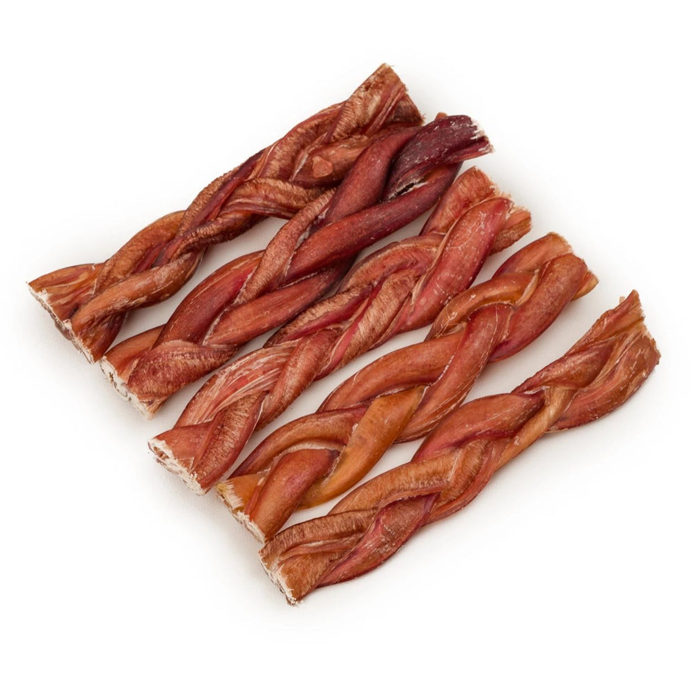 Braided Bully Sticks - LoyaltyDogTreats