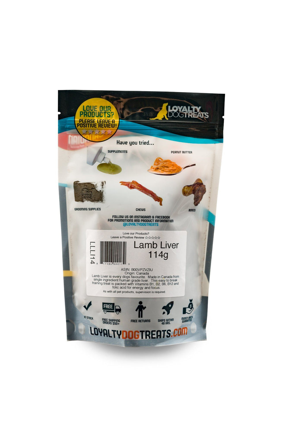 dehydrated lamb liver loyalty dog treats