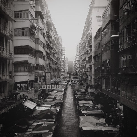 Street Market On A Rainy Day | Wall Art Decor Prints | Taken in Mong Kok, Hong Kong - House Of Flux