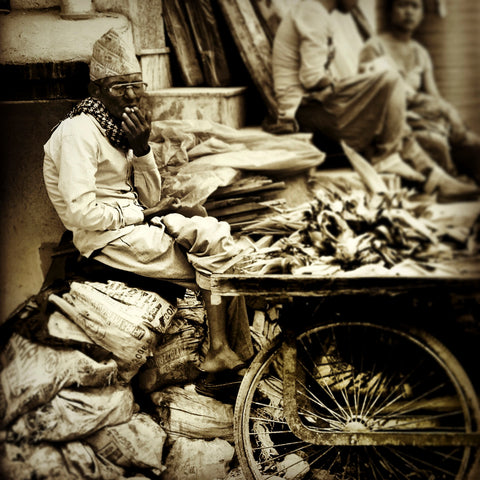 Smoking Man Nepal | Wall Art Decor Prints | Taken in Kathmandu, Nepal - House Of Flux
