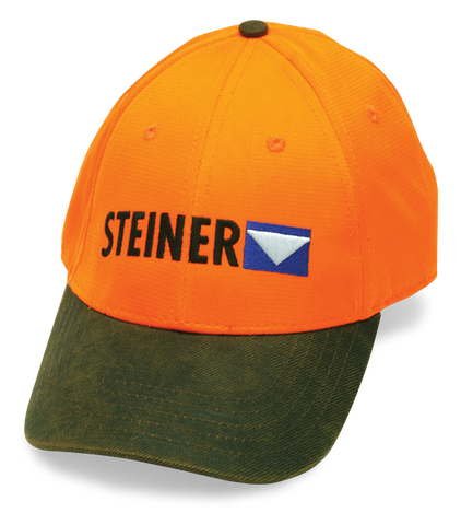 Blaze Orange with brown bill Steiner ball cap