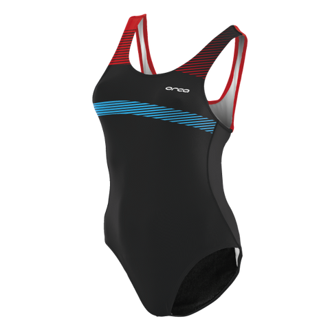ORCA WOMENS SWIMSUIT BLUE RED - Fluidlines