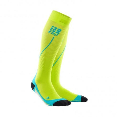 CEP Pro+ Run Sock 2.0 Lime Hawaii Blue Men - Fluidlines