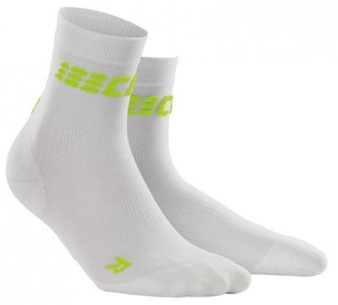 CEP Dynamic+Ultralight short Sock White/Green Men - Fluidlines