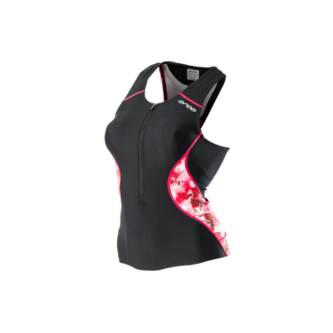 WOMENS CORE SUPPORT SINGLET BK-PK - Fluidlines