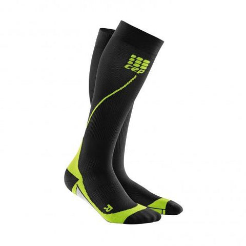 CEP Pro+ Run Sock 2.0 Black/Green Men - Fluidlines