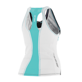 WOMENS CORE SUPPORT SINGLET BK-TQ - Fluidlines