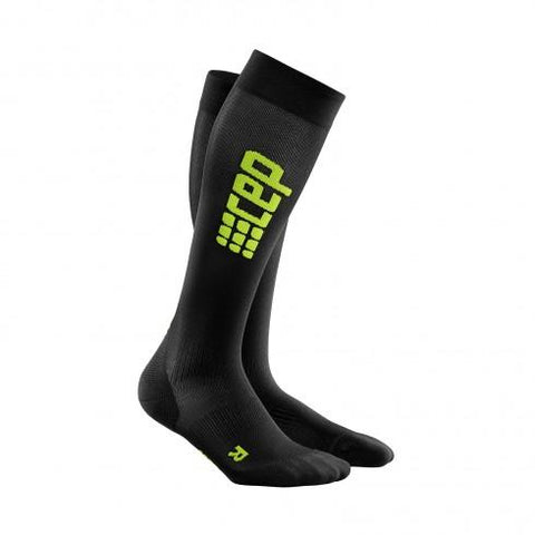 CEP Pro+ Run Ultralight Sock Black/Green Woman - Fluidlines