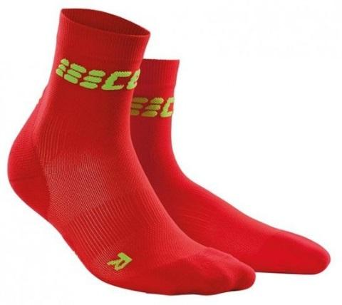 CEP Dynamic+ Ultralight Short Sock Red/Green Woman - Fluidlines