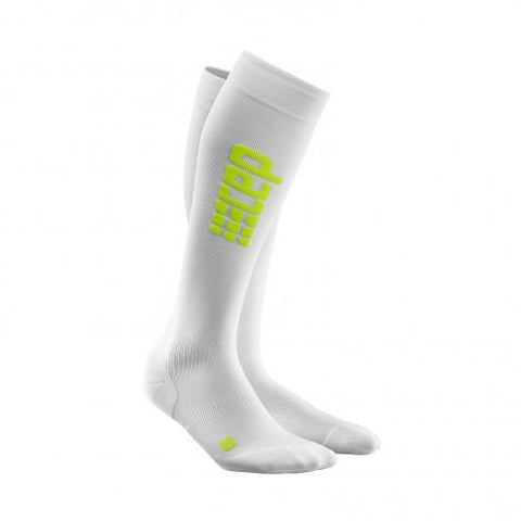 CEP Pro+ Run Ultralight Sock White/Green Woman - Fluidlines