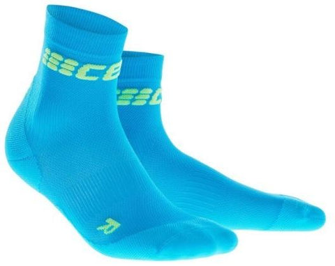 CEP Dynamic+ Ultralight Short Sock Electric Blue/Green Woman - Fluidlines
