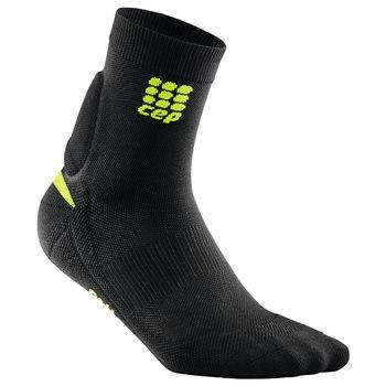 CEP Ortho Achilles Support Short Sock Black/Green Woman - Fluidlines
