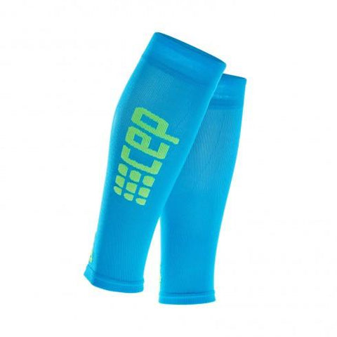 CEP Pro+ Ultralight Calf Sleeve Electric Blue/Green Woman - Fluidlines