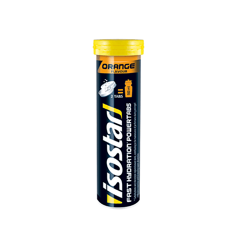 ISOSTAR POWER TABS TUBE ORANGE 120g - Fluidlines