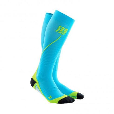 CEP Pro+ Run Sock 2.0 Hawaii Blue/Green Men - Fluidlines