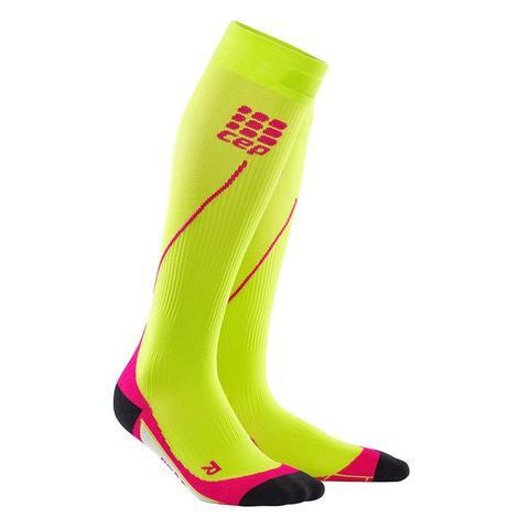 CEP Pro+ Run Sock 2.0 Lime/Pink Woman - Fluidlines