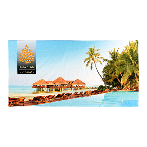 "BE370S 35"" x 70"" Sublimated Beach Towel"
