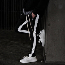 Load image into Gallery viewer, RETRO TRACK PANTS - BLACK/WHITE