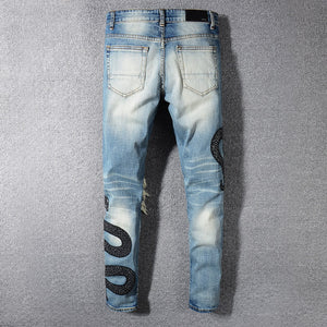 Amri Snake denim -Blue