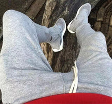 Load image into Gallery viewer, Ankle Zipper Drawstring Sweatpants