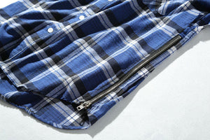 FOG Side Zipper Plaid Shirt