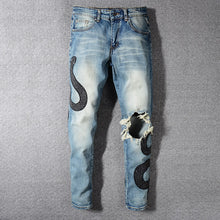 Load image into Gallery viewer, Amri Snake denim -Blue
