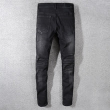 Load image into Gallery viewer, AMRI biker denim - Washed Black