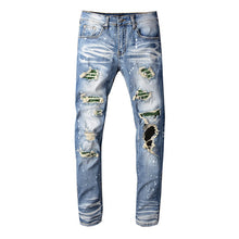 Load image into Gallery viewer, AMRI RIVET DENIM -BLUE