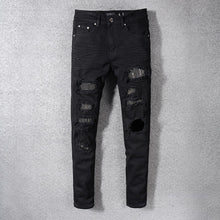Load image into Gallery viewer, Amri Rivet Denim - Black
