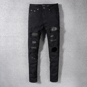Amri Rivet Denim - Black