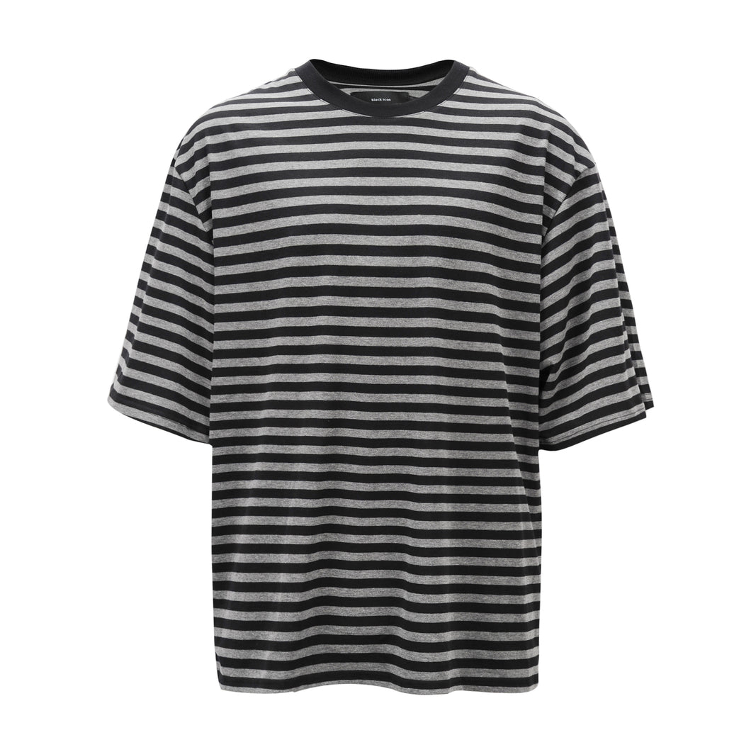 Striped Tee - Grey/Black