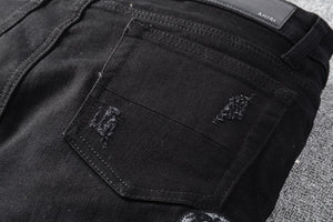 AMRI SNAKE DENIM - BLACK