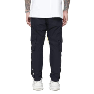 SNAP CARGO PANTS - BLACK