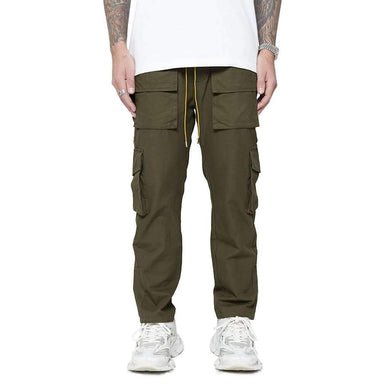 SNAP CARGO PANTS - OLIVE