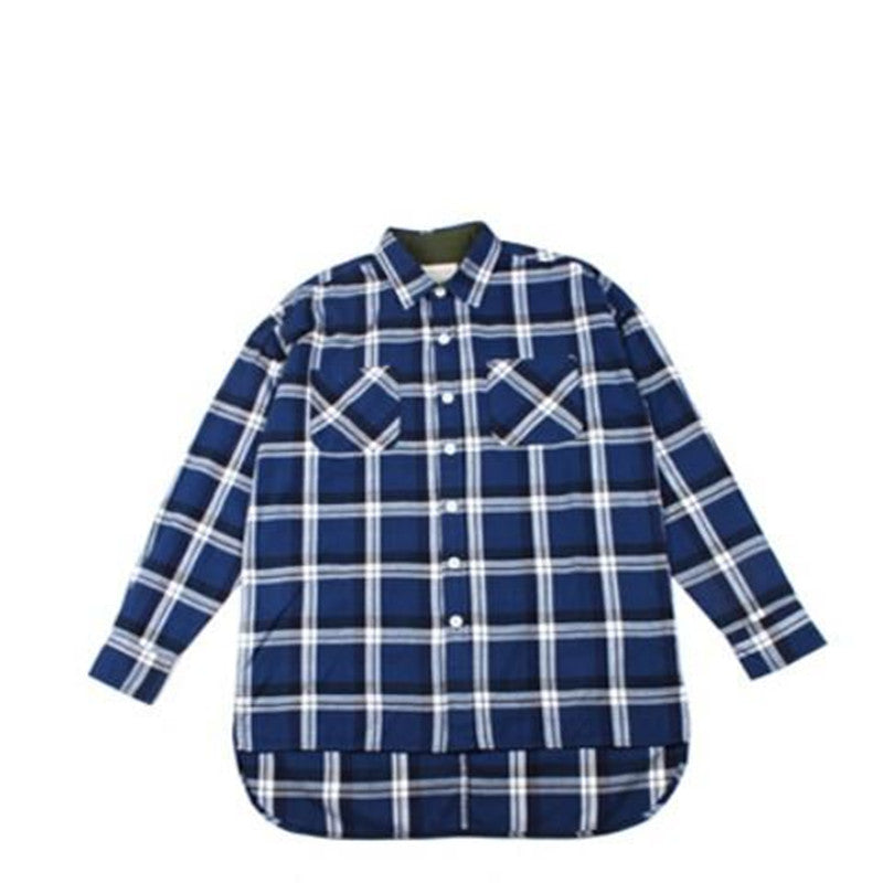 Long sleeve zipper flannel