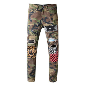 AMRI LEO PATCH DENIM -CAMO