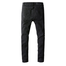 Load image into Gallery viewer, AMRI DESTROYED BIKER DENIM - BLACK