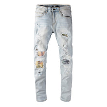 Load image into Gallery viewer, AMRI PATCH DENIM -SKY BLUE