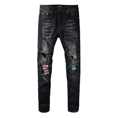 AMRI PATCH DENIM -WASHED BLACK
