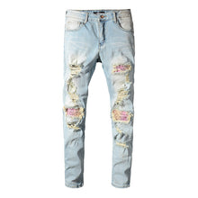 Load image into Gallery viewer, AMIRI RAINBOW PATCH DENIM