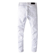 Load image into Gallery viewer, AMIRI DESTROYED RIVET DENIM - WHITE