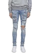 Load image into Gallery viewer, AMRI STUD SPLASH JEANS