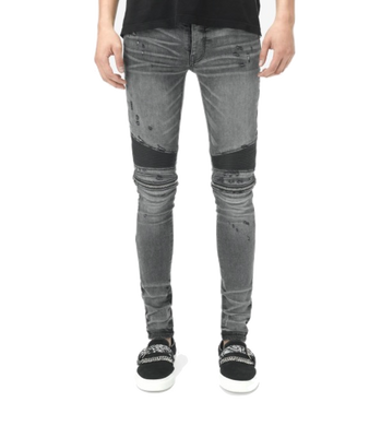 AMIRI  ZIPPER DENIM - GREY