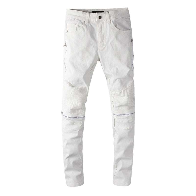 AMIRI ZIPPER DENIM - WHITE