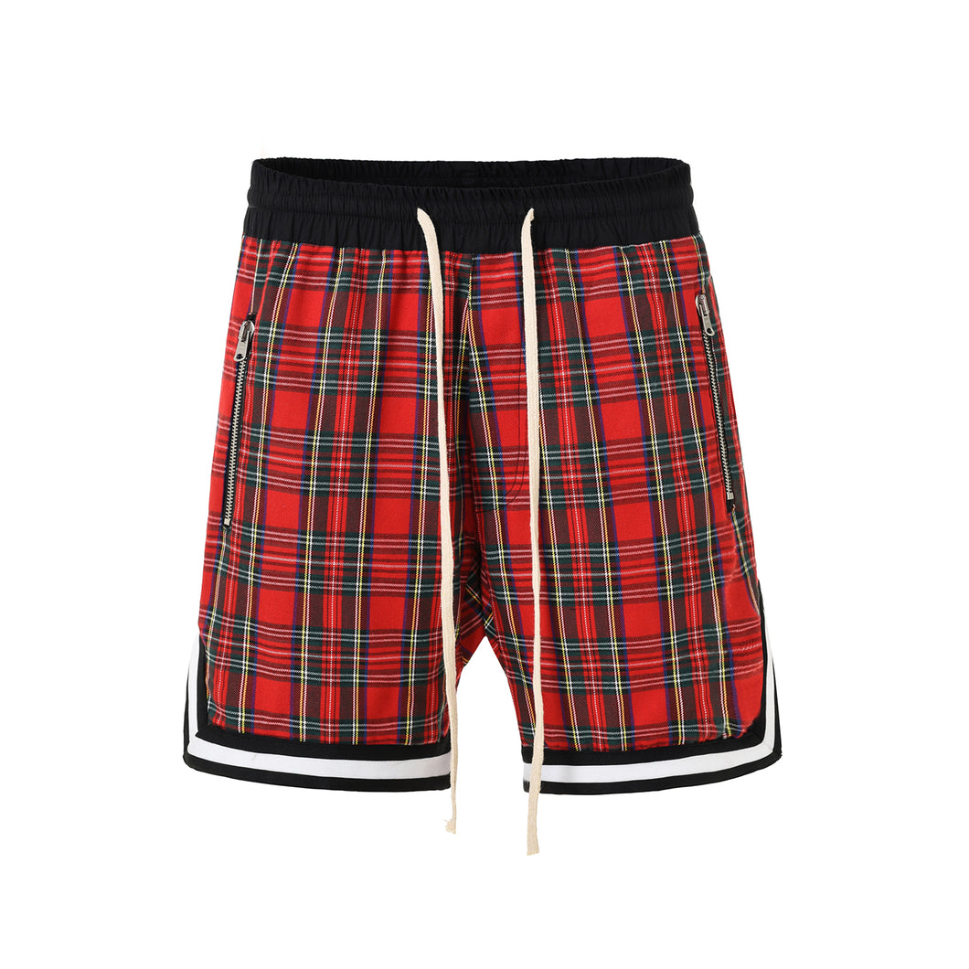 Checkred Shorts-Red