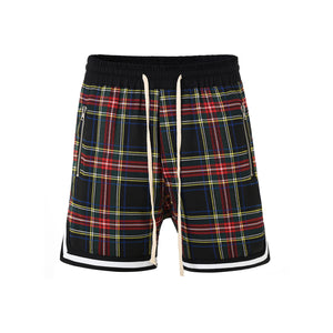 Checked Shorts-Black