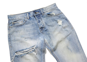 Destroyed Ripped Denim