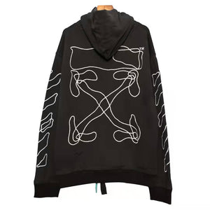 OW EMBROIDERY ARROW HOODIE