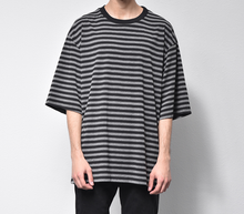 Load image into Gallery viewer, Striped Tee - Grey/Black
