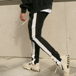 RETRO TRACK PANT - BLACK/WHITE